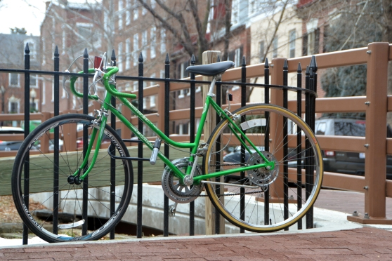 """Canal Bike"" • Green is my favorite color, so between that and the composition, I had to take this photo."