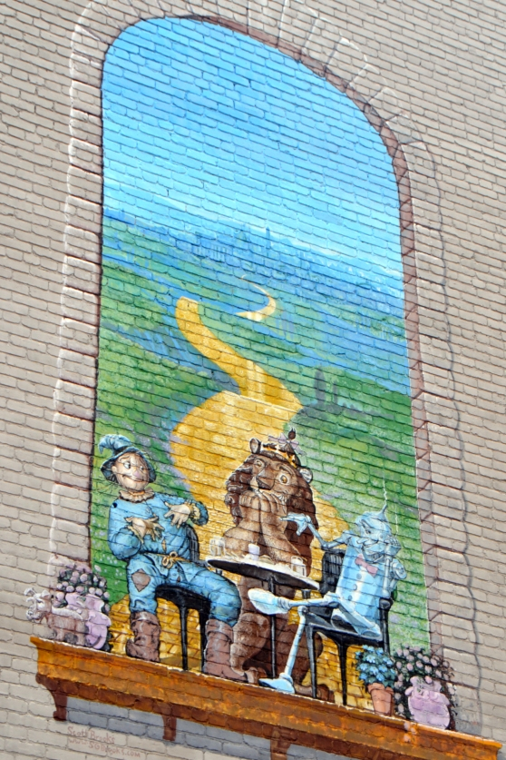 Being from Kansas, a Wizard of Oz mural in the middle of Washington, D.C., was, well, too awesome.