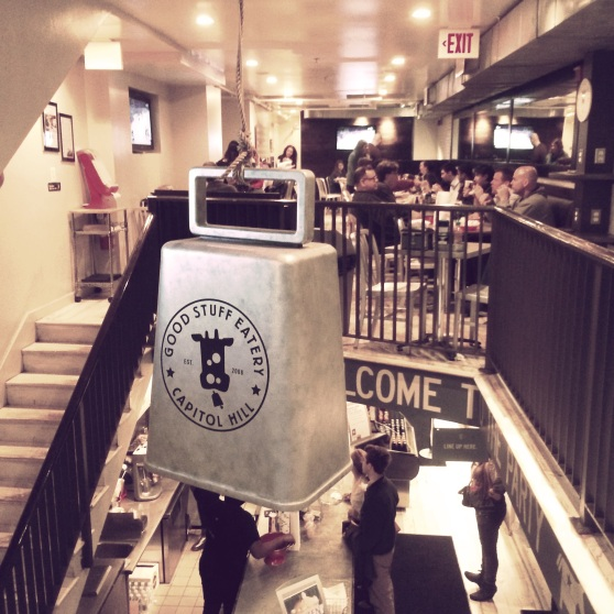 The Good Stuff Eatery Cow Bell...  I ordered directly beneath this, so, yeah...  Let's hope it's attached well!