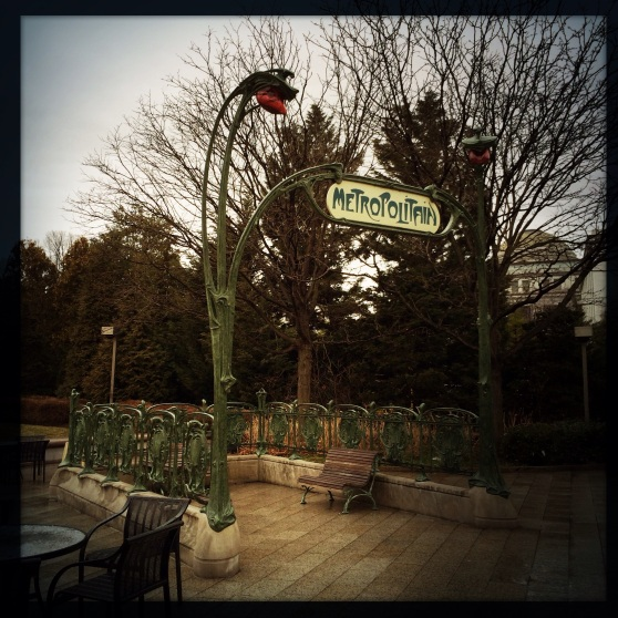 "Hector Guimard's ""An Entrance to the Paris Métropolitain"" • • National Gallery of Art Sculpture Garden Naturally, as a Francophile and lover of these Metro entrances in Paris, I freaked out.  Just a bit, though."