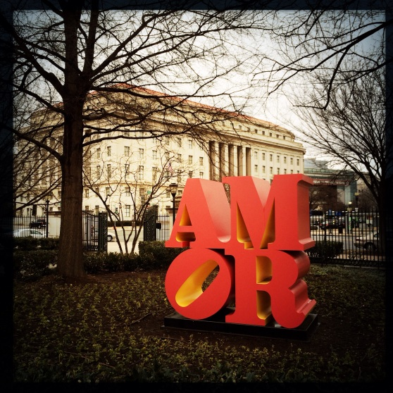 "Robert Indiana's ""AMOR"" • National Gallery of Art Sculpture Garden"