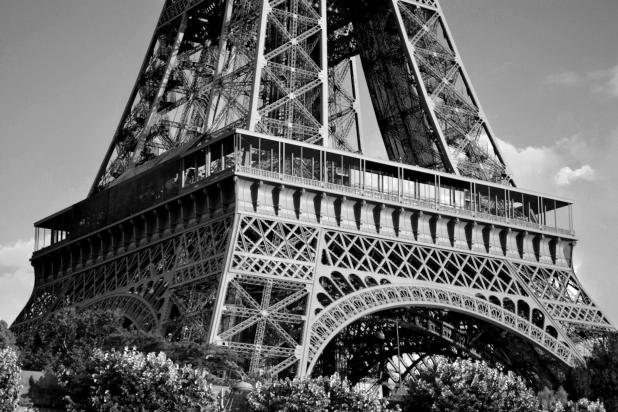 Eiffel Tower Grayscale
